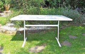Foto 2 Gartentisch, wetterfest, in weiß, 120 x 80 cm
