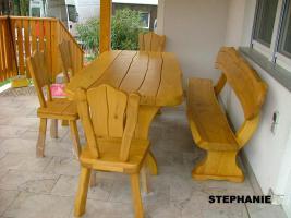 Foto 5 Gartentische, St�hle, B�nke aus Massivholz
