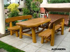 Foto 9 Gartentische, Stühle, Bänke aus Massivholz