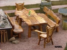 Foto 11 Gartentische, Stühle, Bänke aus Massivholz