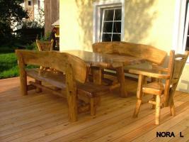 Foto 12 Gartentische, Stühle, Bänke aus Massivholz