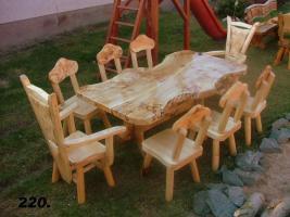 Foto 3 Gartentische, Stühle, Bänke aus Massivholz