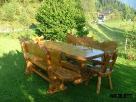 Foto 4 Gartentische, Stühle, Bänke aus Massivholz