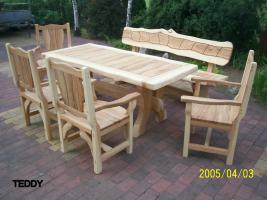 Foto 5 Gartentische, Stühle, Bänke aus Massivholz