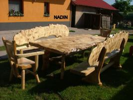 Foto 6 Gartentische, Stühle, Bänke aus Massivholz