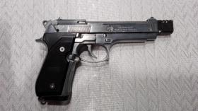 Foto 2 Gas / Schreckschußpistole Reck Miami 92F mit Kompensator PTB 773