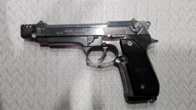 Foto 3 Gas / Schreckschußpistole Reck Miami 92F mit Kompensator PTB 773