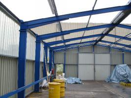 Foto 8 Gebrauchte Abstellhalle/ Gewerbehalle/ Industriehalle/ Lagerhalle/ Stahlhalle