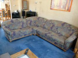 Gebrauchte Couchgarnitur mit Sessel zu verkaufen