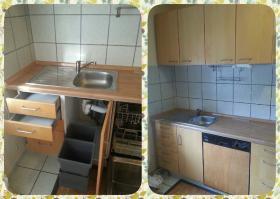 Gebrauchte Küchenzeile für Selbstabholer / IKEA Faktum-Nexus Birkenfurnier