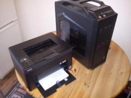 Gebrauchten Gamer PC für Einsteiger mit Color Laser Drucker DELL 1250c