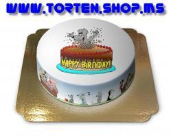 Geburtstags-Torte mit Comicmaus