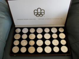 Gedenkmünzen Olympiade Montreal Silberdollars