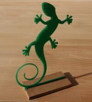 Gekko Figur Dekoration Acrylglas