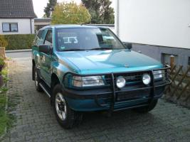 gel ndewagen opel frontera in l nen fahrbereit gel ndewagen blau schaltgetriebe autogas lpg. Black Bedroom Furniture Sets. Home Design Ideas