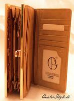 Foto 3 Geldbeutel von Giulia Pieralli mit goldfarbenem Metall Geldbörse braun