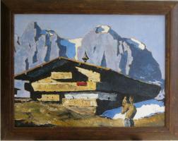 Gemälde Bergbauernhof