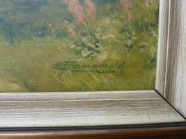 Foto 2 Gemälde Ernst Frommhold --- Walddurchblick --- Dachbodenfund