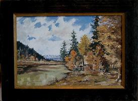 Gemälde ''Herbst an den Osterseen''