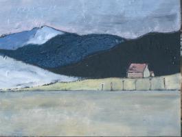 Gemälde Voralpen im Frühling