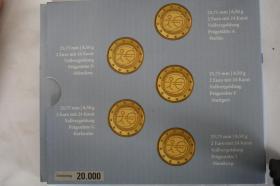 Foto 2 Gemeinschaftsausgabe ''10 Jahre EURO '' 24 Karat