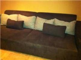 Gemütliches Big Sofa in schönem Braunton