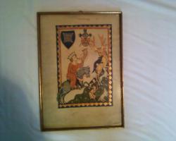 Gerahmte Bilderseiten aus dem Codex Manesse