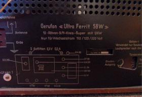Gerufon 58W Ultra Ferrit, 1957