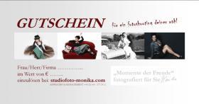 Geschenk-Gutschein für ein Fotoshooting
