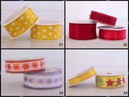 Geschenkbänder / Schleifenbänder  2-er Sets