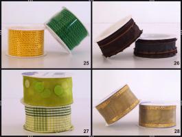 Foto 2 Geschenkbänder / Schleifenbänder  2-er Sets