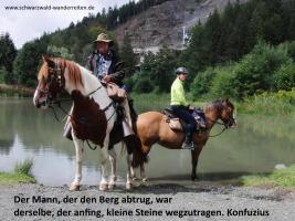 Foto 57 Geschenkidee für Reiter, Wanderreiter, Freizeitreiter - Wanderitt ab Todtmoos Au