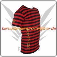 Foto 2 Gestreiftes Schwarz Rot FancyBeast Clubwear Shirt    NEU!