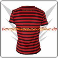 Foto 3 Gestreiftes Schwarz Rot FancyBeast Clubwear Shirt    NEU!