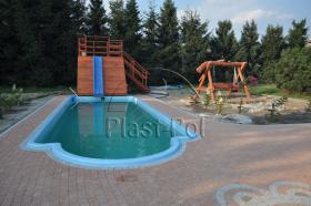 Foto 3 Gfk Schwimmbecken, Einbaubecken mit �berdachung, komplettes Set