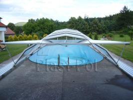 Foto 10 Gfk Schwimmbecken, Einbaubecken mit �berdachung, komplettes Set