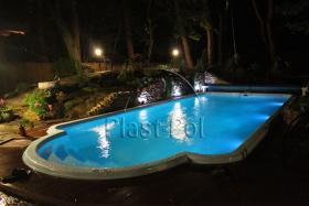 Foto 2 Gfk Schwimmbecken, Swimming Pool, Einbaubecken 6,05x2,70 Fertigpool, SET