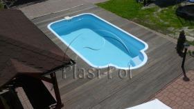 Foto 8 Gfk Schwimmbecken, Swimming Pool, Einbaubecken 6,05x2,70 Fertigpool, SET