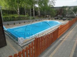 Foto 3 Gfk Schwimmbecken, Swimming Pool, Einbaubecken 6,50x3,10 Fertigpool, SET