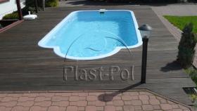 Foto 5 Gfk Schwimmbecken, Swimming Pool, Einbaubecken 6,50x3,10 Fertigpool, SET
