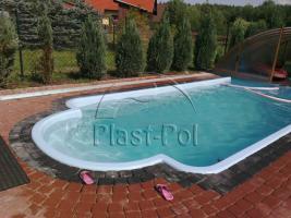 Foto 6 Gfk Schwimmbecken, Swimming Pool, Einbaubecken 6,50x3,10 Fertigpool, SET