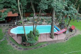 Foto 7 Gfk Schwimmbecken, Swimming Pool, Einbaubecken 6,50x3,10 Fertigpool, SET