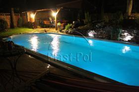 Gfk Schwimmbecken, Swimming Pool, Einbaubecken 7,20x2,80 Fertigpool, SET