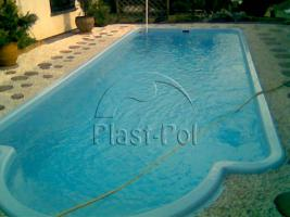 Foto 3 Gfk Schwimmbecken, Swimming Pool, Einbaubecken 8,20x3,10 Fertigpool, SET