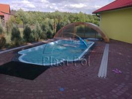 Foto 4 Gfk Schwimmbecken, Swimming Pool, Einbaubecken 8,20x3,10 Fertigpool, SET