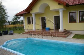 Foto 5 Gfk Schwimmbecken, Swimming Pool, Einbaubecken 8,20x3,10 Fertigpool, SET