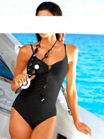 Gideon Oberson - Badeanzug mit Schn�rung schwarz Gr. 38 B - OVP - NEU