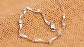 Girlanden-Silberarmband für Damen