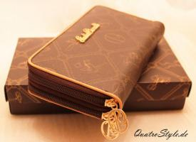Foto 8 Giulia Pieralli Damen Geldbeutel mit umlaufendem Reißverschluss Portemonnaie Damen Geldbörse