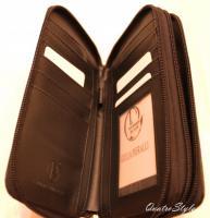 Foto 2 Giulia Pieralli Damen Geldbeutel mit umlaufendem Reißverschluss schwarz Damen Portemonnaie Geldbörse